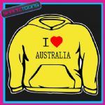 I LOVE HEART AUSTRALIA HOODIE ALL SIZES & COLOURS